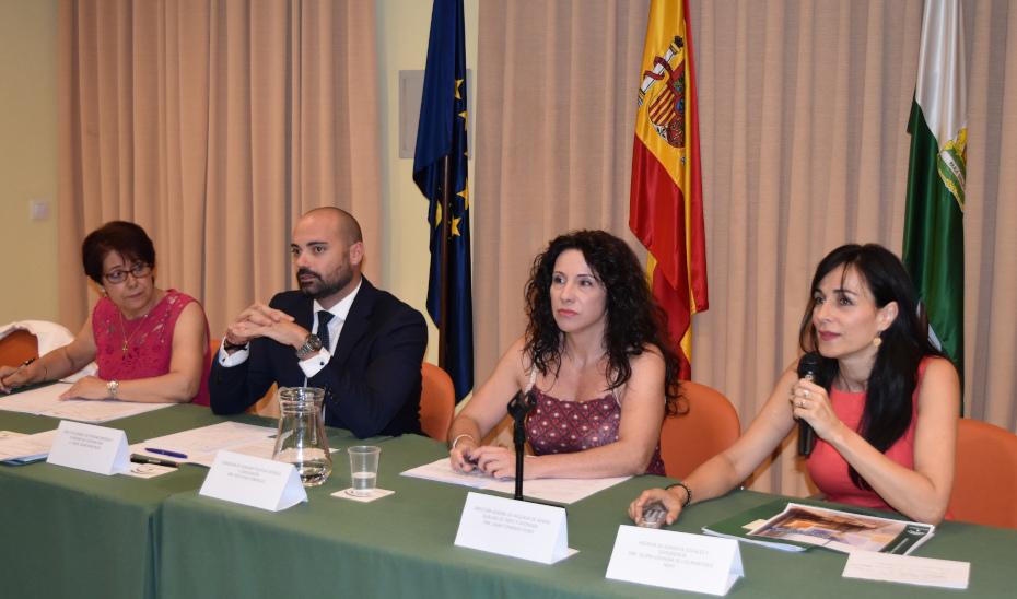 La consejera Rocío Ruiz, en el pleno del Consejo Andaluz de Mayores.