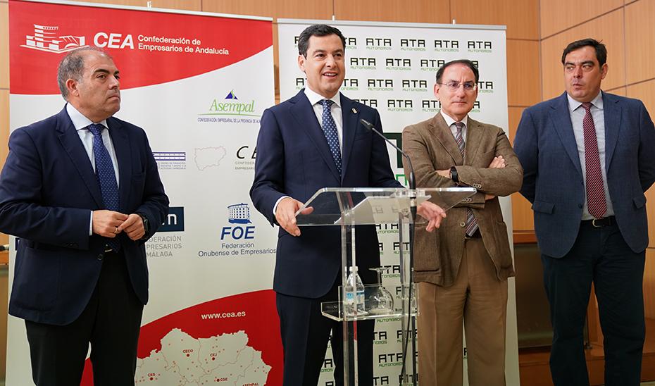 Intervención de Juanma Moreno en la inauguración de las nuevas instalaciones de ATA