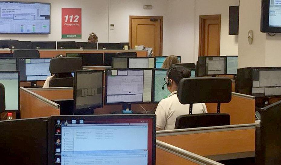 La Sala del Servicio de Emergencias 112 en Málaga.
