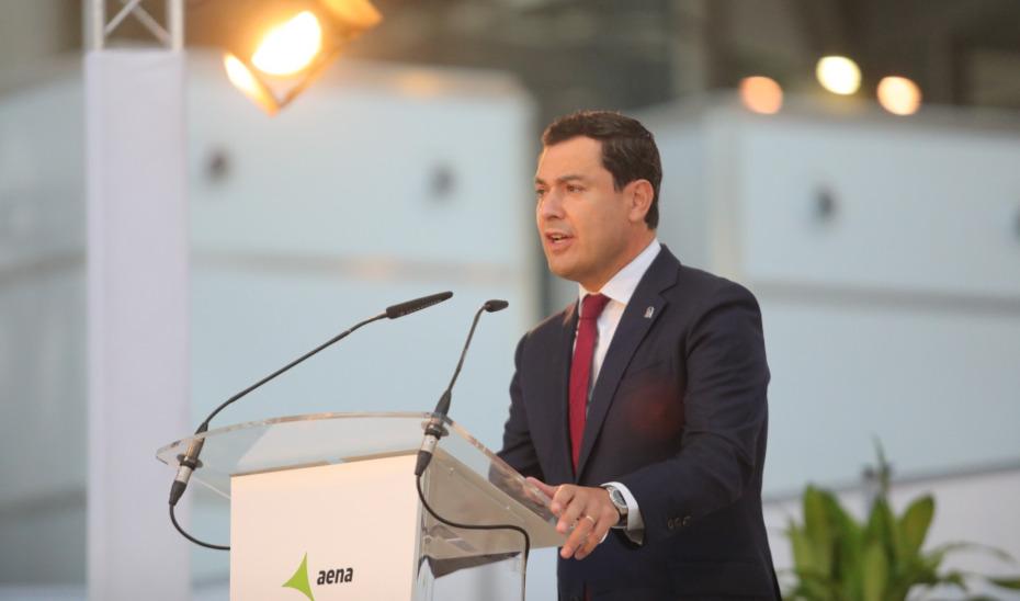 Moreno considera determinante la contribución del Aeropuerto de Málaga al desarrollo de Andalucía