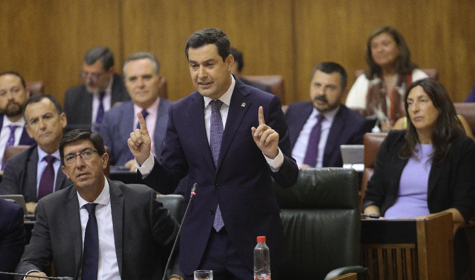 Moreno exige al Gobierno central lealtad y responsabilidad con los andaluces y que pague el dinero que le debe a Andalucía