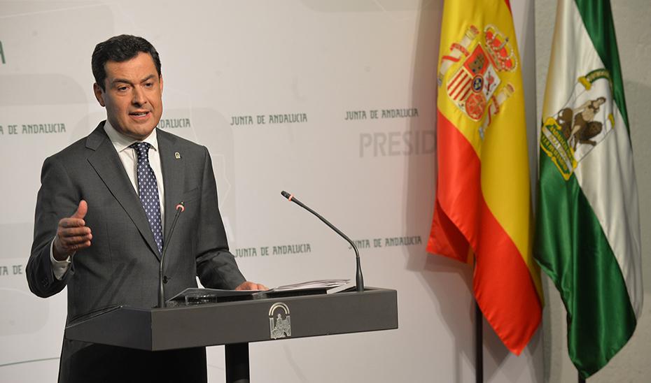 Moreno anuncia el mayor paquete de ayudas de emergencia consignado para paliar los daños de la gota fría