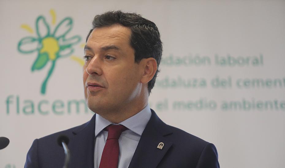 Intervención de Juanma Moreno en el acto de la firma de la firma del VI Acuerdo para la Sostenibilidad de la Industria del Cemento
