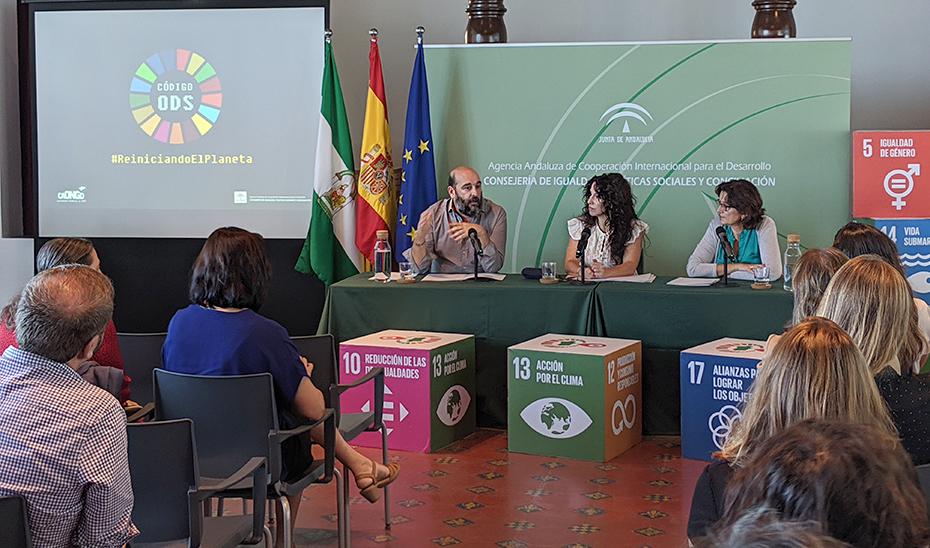 La consejera de Igualdad, Políticas Sociales y Conciliación durante su intervención.