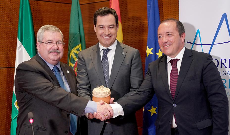 Viaje oficial del presidente del Gobierno de Andalucía, Juanma Moreno, a Portugal