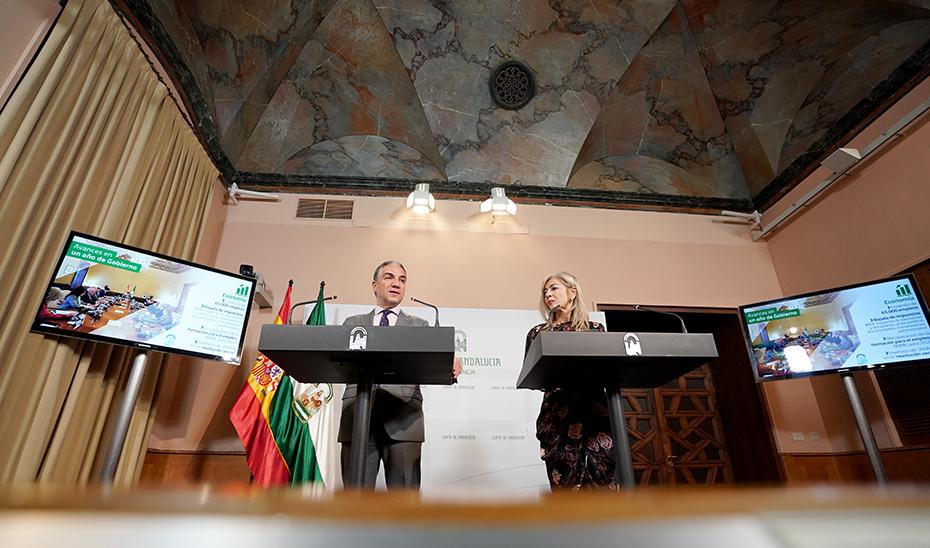 Comparecencia informativa de Elías Bendodo y Patricia del Pozo posterior al Consejo de Gobierno (audio íntegro)