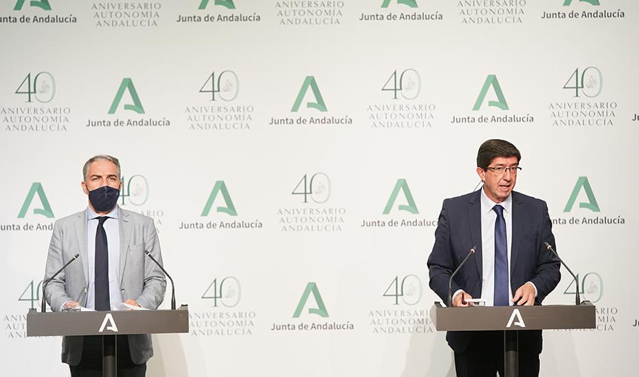 Comparecencia informativa de Juan Marín y Elías Bendodo posterior al Consejo de Gobierno (audio íntegro)
