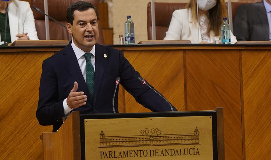 Moreno pide la unidad de todos los grupos para exigir que lleguen a Andalucía los 23.000 millones de euros que le corresponden