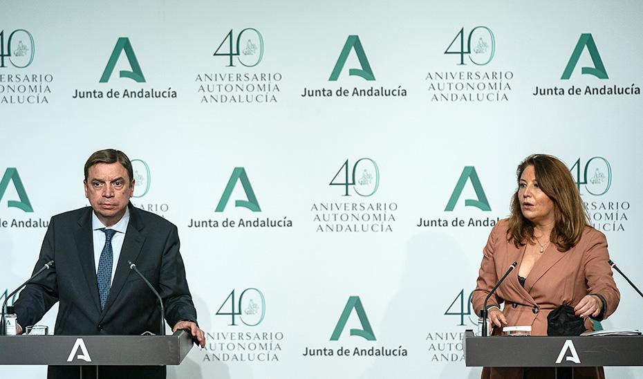 Comparecencia informativa de la consejera Carmen Crespo y el ministro Luis Planas (audio íntegro)