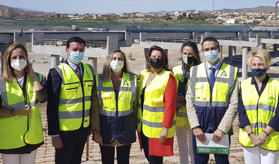 Las consejeras Marifrán Carazo y Carmen Crespo visitan el avance de las obras de la Autovía del Almanzora.