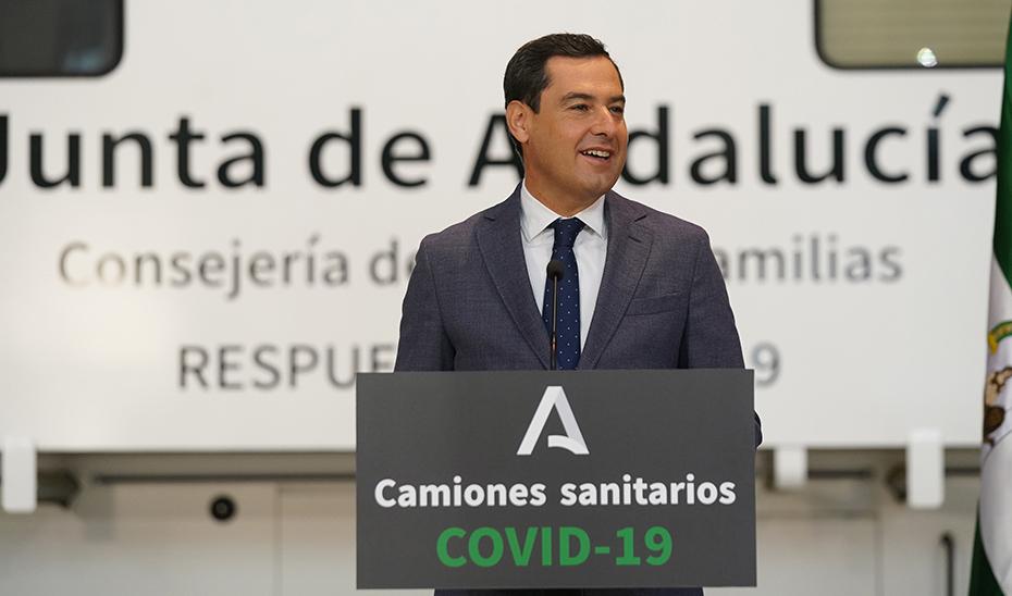 Intervención del presidente tras la presentación de las unidades móviles contra el Covid-19
