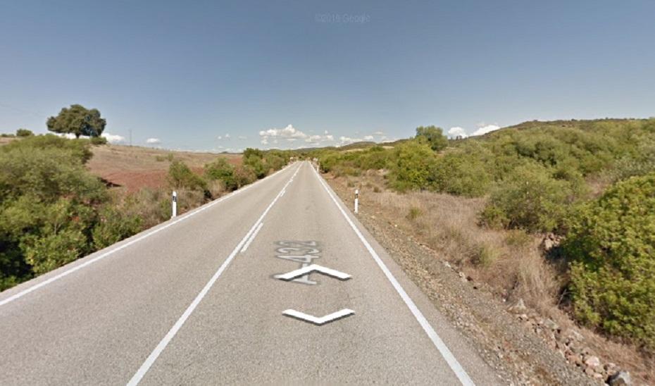 Punto de la carretera A-432 donde ha tenido lugar el accidente.