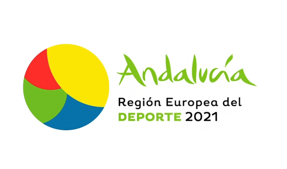 Logo con motivo de la designación de Andalucía como Región Europea del Deporte.