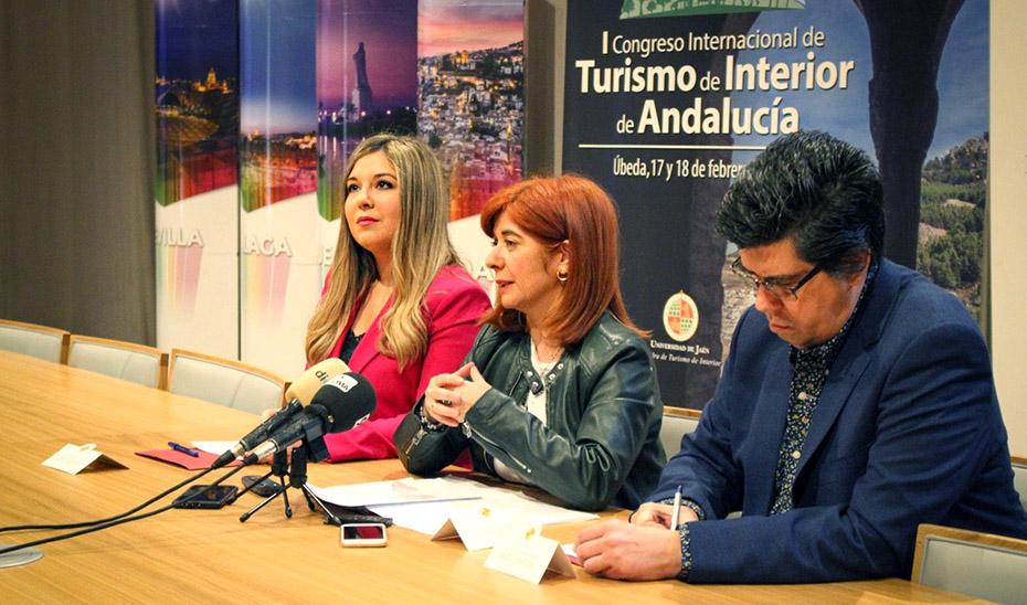 Momento de la presentación del I Congreso de Turismo Interior en Úbeda.