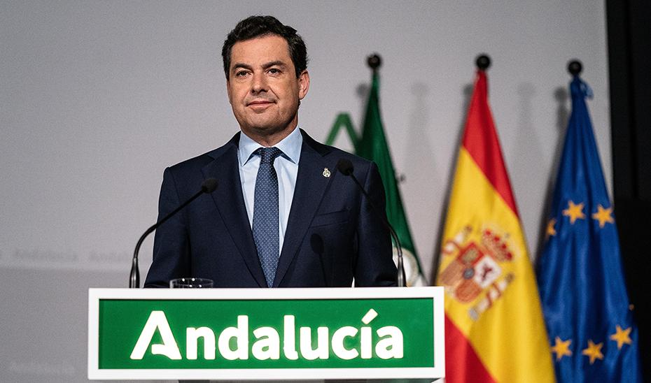 Declaración institucional del presidente de la Junta de Andalucía, Juanma Moreno (audio íntegro)
