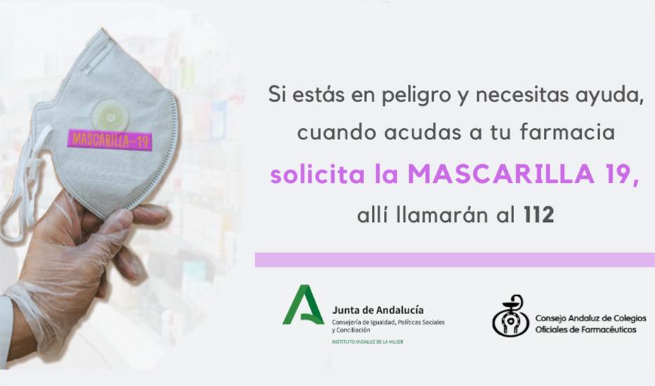 Campaña de la Junta de Andalucía sobre la \u0027Mascarilla 19\u0027.