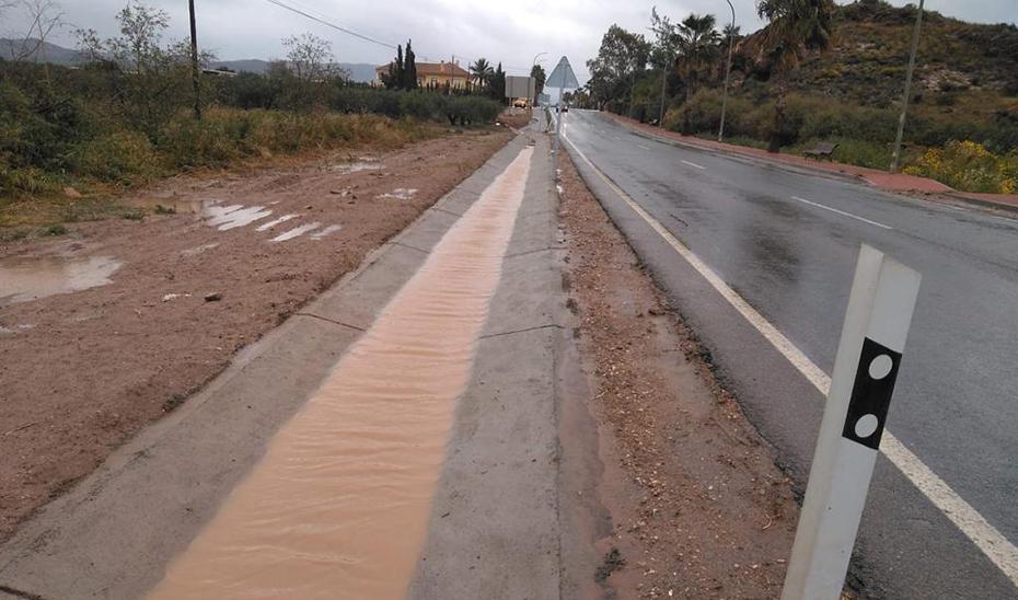 Actuación en la carretera A-1201, que va desde Pulpí al límite con la Región de Murcia.