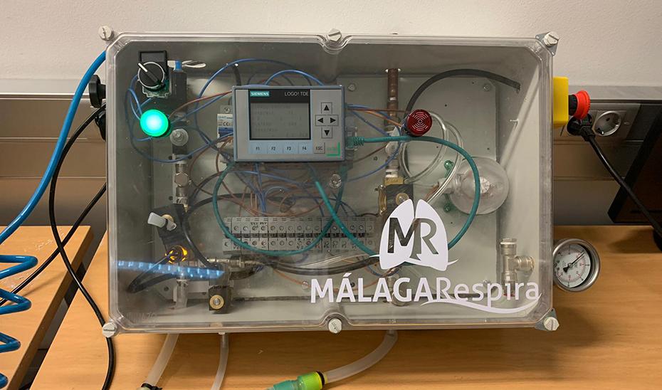 El prototipo diseñado por la Consejería de Salud y la Universidad de Málaga.