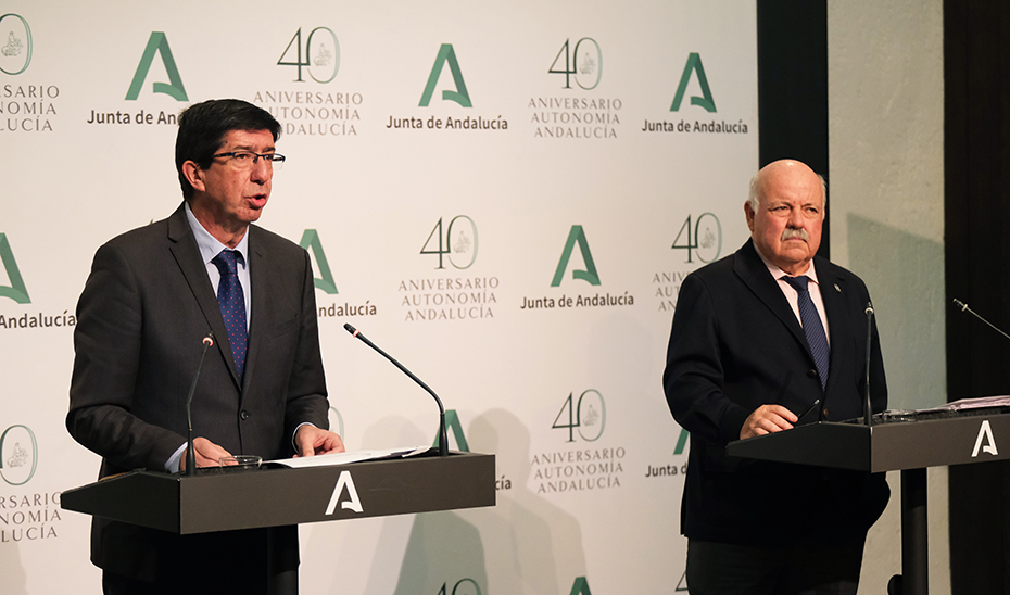 El vicepresidente de la Junta y el consejero de Salud informan sobre la situación ante el Covid-19