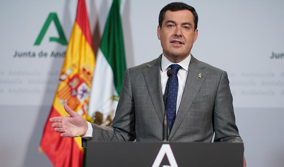 Comparecencia de Juanma Moreno tras la videoconferencia con los presidentes del Gobierno y del resto de comunidades (audio íntegro)