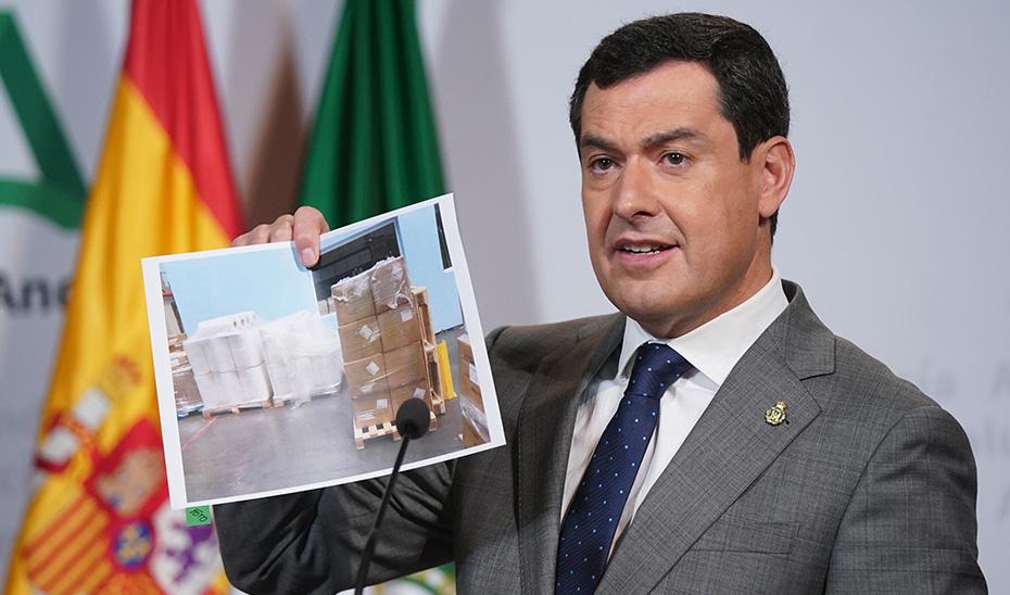 Intervención de Juanma Moreno tras la videoconferencia con el presidente del Gobierno y los autonómicos