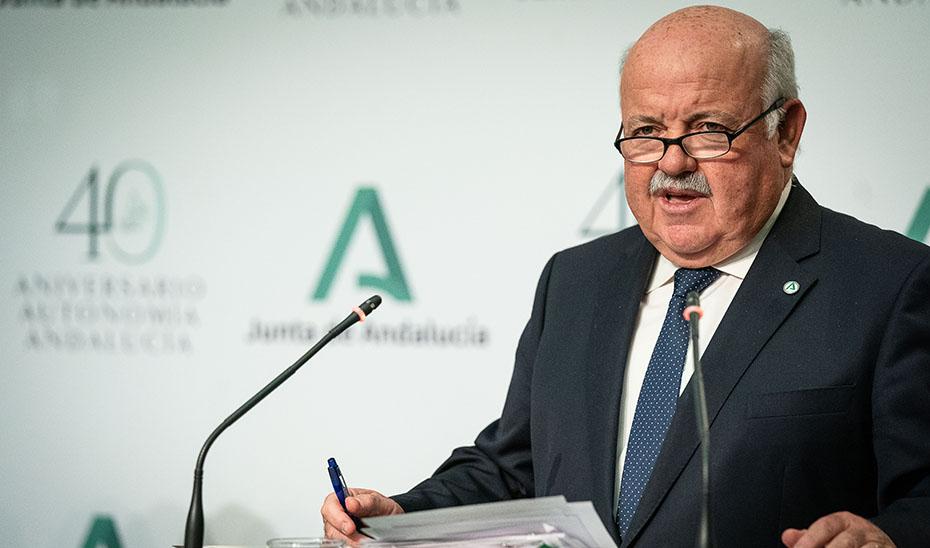 Jesús Aguirre informa del plan de contingencia ante 9.000 posibles contagiados por Covid-19 en Andalucía