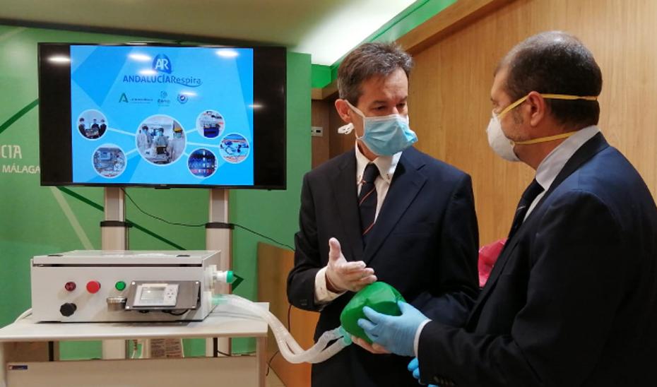 Presentación de 'Andalucía Respira', el respirador diseñado por médicos e ingenieros andaluces para pacientes con Covid-19
