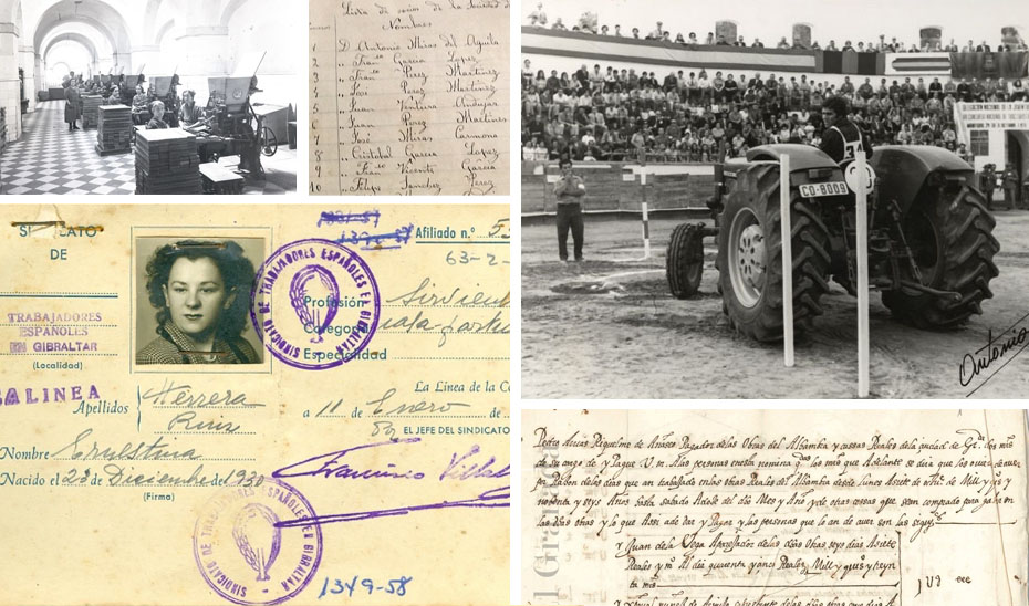 Documentos relacionados con la historia del trabajo custodiados por los Archivos de Andalucía.