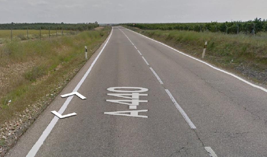 Punto de la carretera A-440 donde ha ocurrido el accidente.