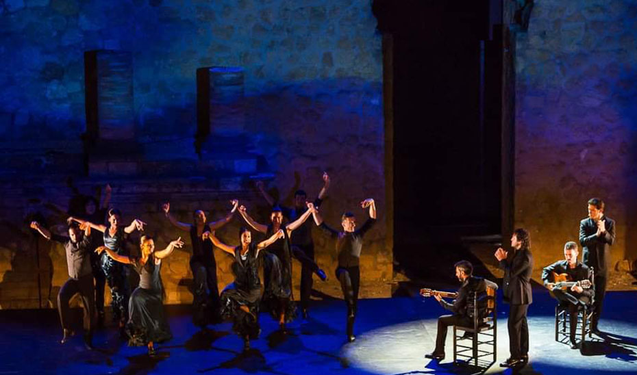 Uno de los espectáculos del último Festival de Teatros Romanos de Andalucía en el Conjunto Arqueológico de Itálica (Sevilla).