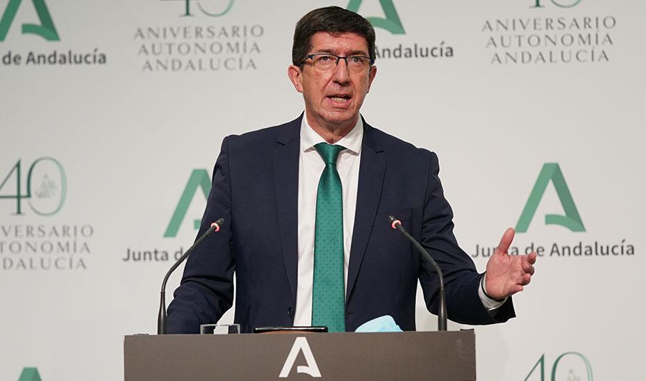 Juan Marín informa del lanzamiento de la campaña para reactivar el sector turístico