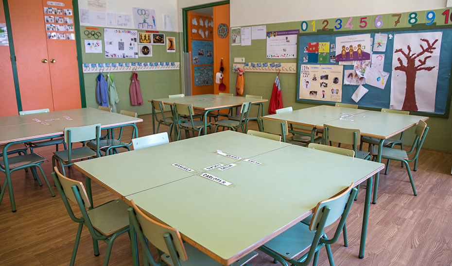 Los colegios y centros educativos andaluces permanecen cerrados a causa del Covid-19 (Foto Archivo EFE)