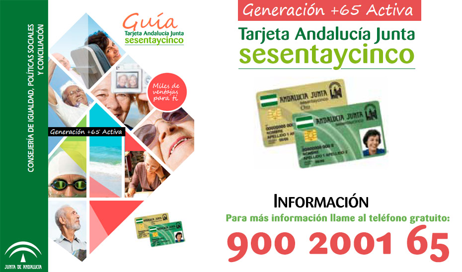Teléfono de información sobre la Tarjeta Andalucía Junta sesentaycinco.