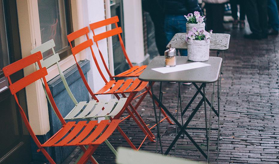 Terraza de una cafetería.