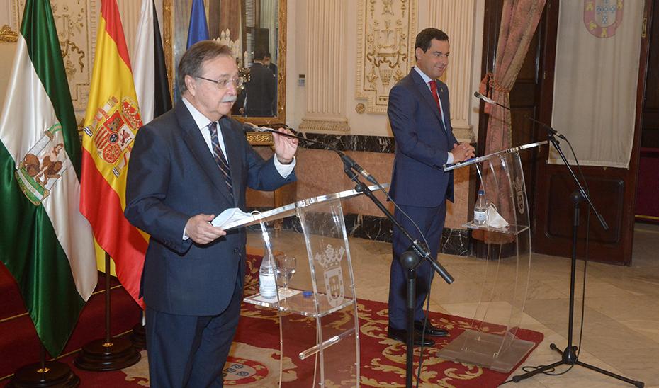 Intervención del presidente Juanma Moreno durante su visita institucional a Ceuta