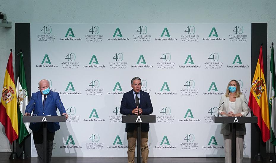 Comparecencia informativa de Bendodo, Aguirre y Carazo tras el Consejo de Gobierno (audio íntegro)