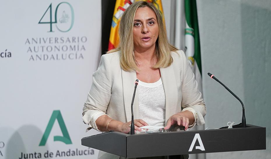 Marifrán Carazo presenta un informe sobre los programas de vivienda que tiene en marcha la Junta