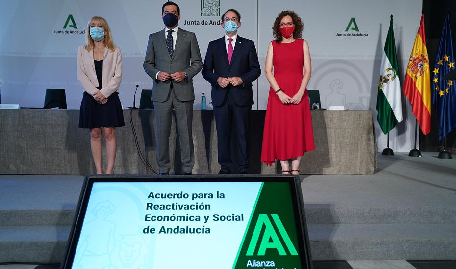 Moreno sella con los agentes sociales un acuerdo histórico para la reactivación económica y social de Andalucía ante la crisis del Covid-19
