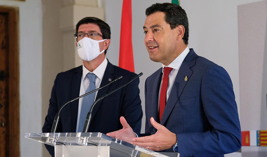 Moreno advierte de que Andalucía no admitirá ningún maltrato y exige un tratamiento igual, justo y equitativo entre españoles
