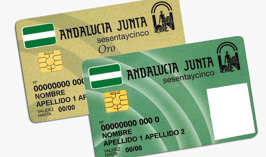 Estas tarjetas permiten a sus titulares mayores de 65 años de Andalucía acceder a prestaciones y programas o a descuentos.