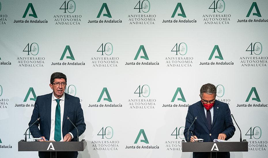 Comparecencia informativa de Juan Marín y Elías Bendodo tras el Consejo de Gobierno (audio íntegro)