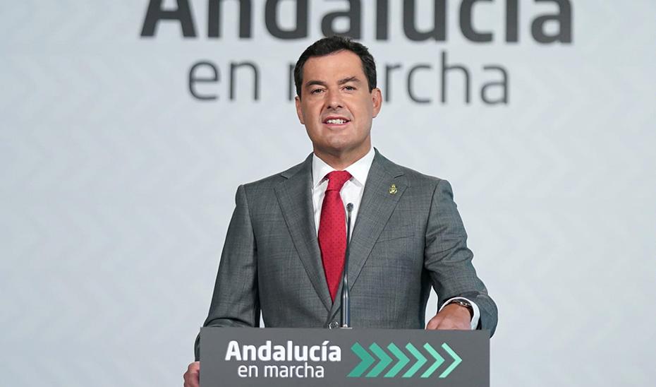 Intervención del presidente Junama Moreno en la presentación del Plan Andalucía en Marcha