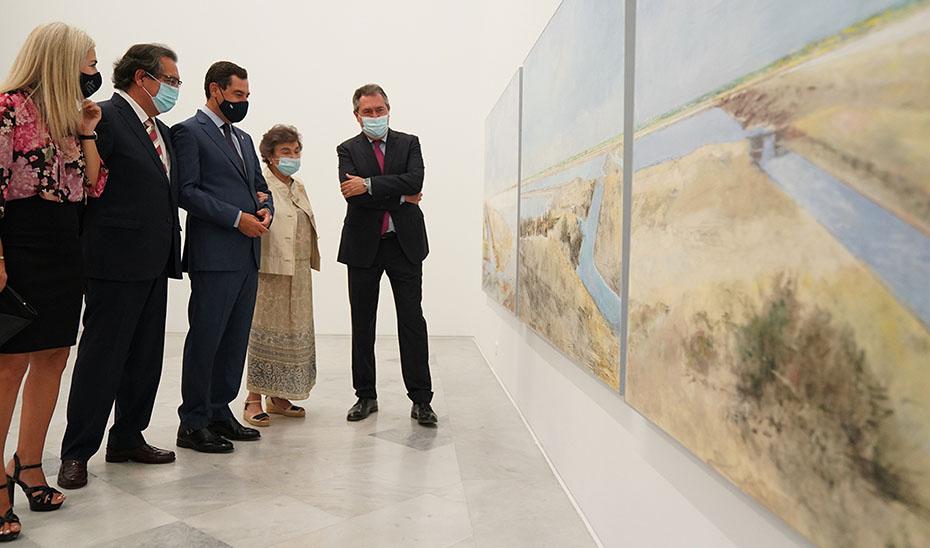 Moreno valora el compromiso de Andalucía con el arte contemporáneo al invertir tres veces más que en 2019