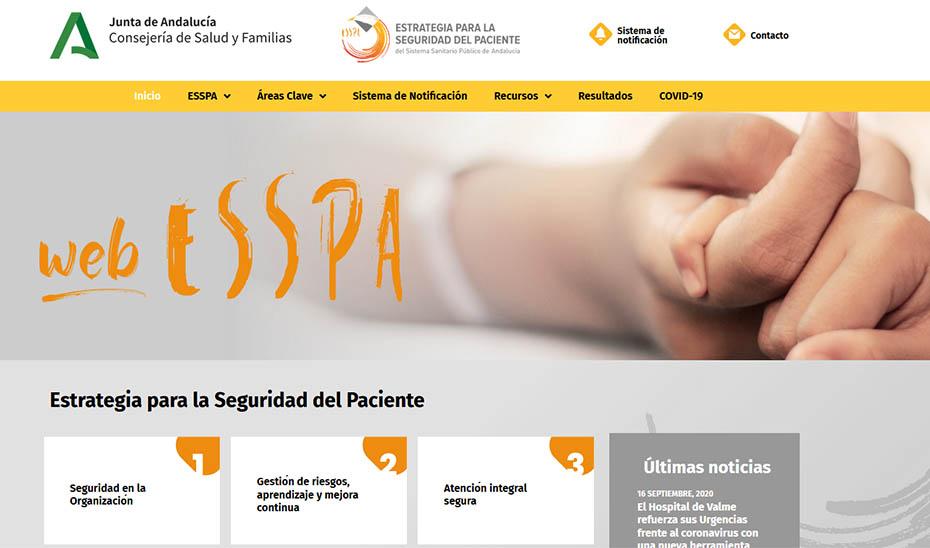 WebESSPA, una plataforma web para la seguridad del paciente.