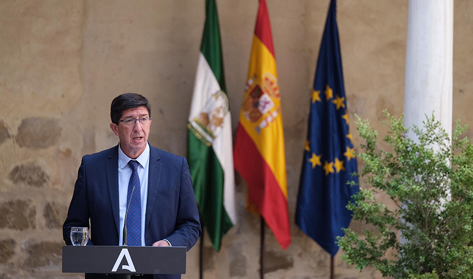 Juan Marín informa tras el Consejo de Gobierno de los 29 primeros proyectos de la ITI de Jaén
