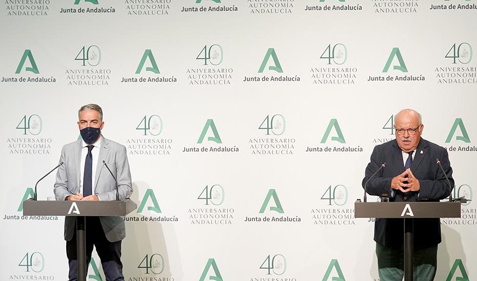 Comparecencia de Elías Bendodo y Jesús Aguirre tras el Consejo de Gobierno (vídeo íntegro)