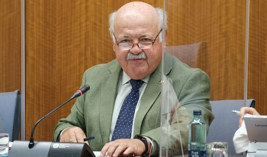 Jesús Aguirre, durante la Comisión de Salud del Parlamento.