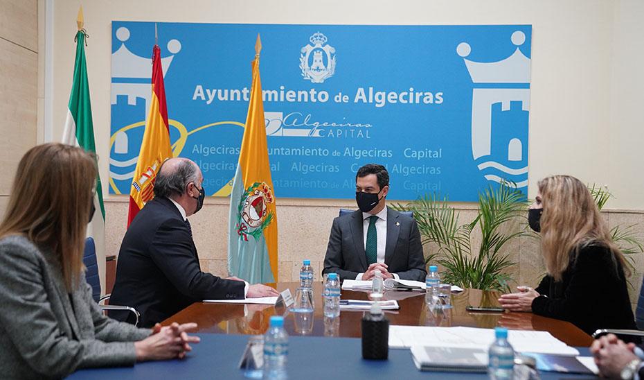 Moreno considera estratégico el proyecto del Ramal Central hasta Algeciras que define como clave para Andalucía y España