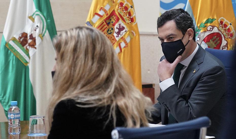 Intervención de Juanma Moreno en su visita institucional al Ayuntamiento de Algeciras
