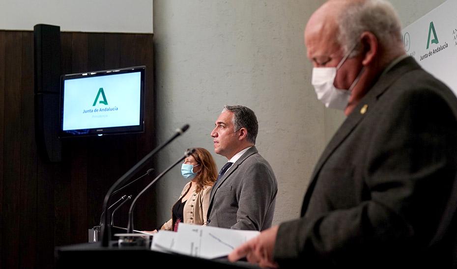 Comparecencia de Bendodo, Crespo y Aguirre tras el Consejo de Gobierno (vídeo íntegro)